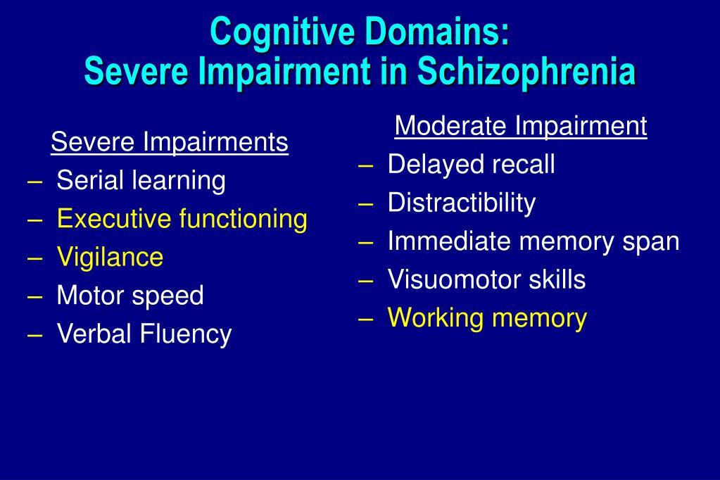 Cognitive Domains: