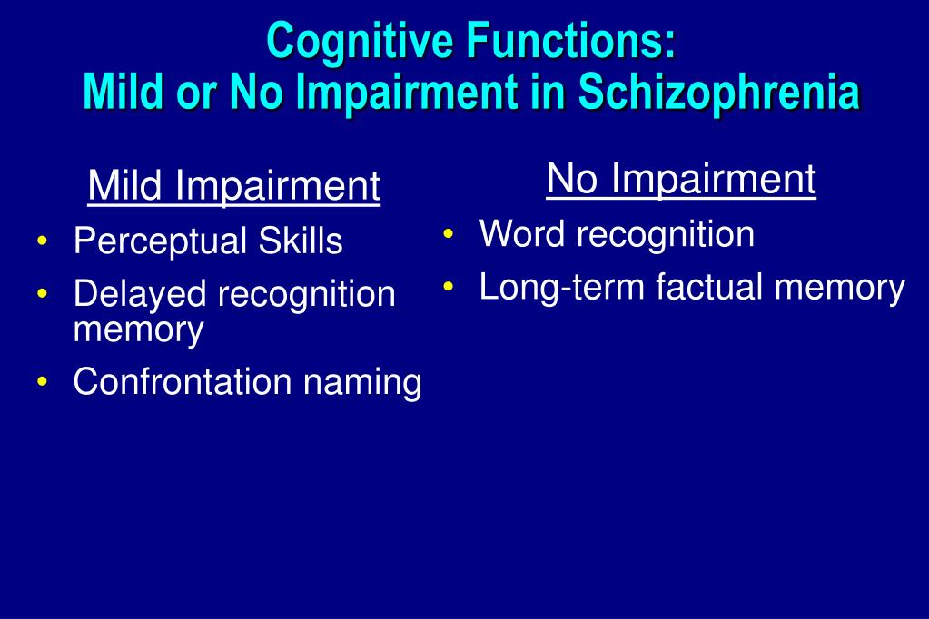 Cognitive Functions: