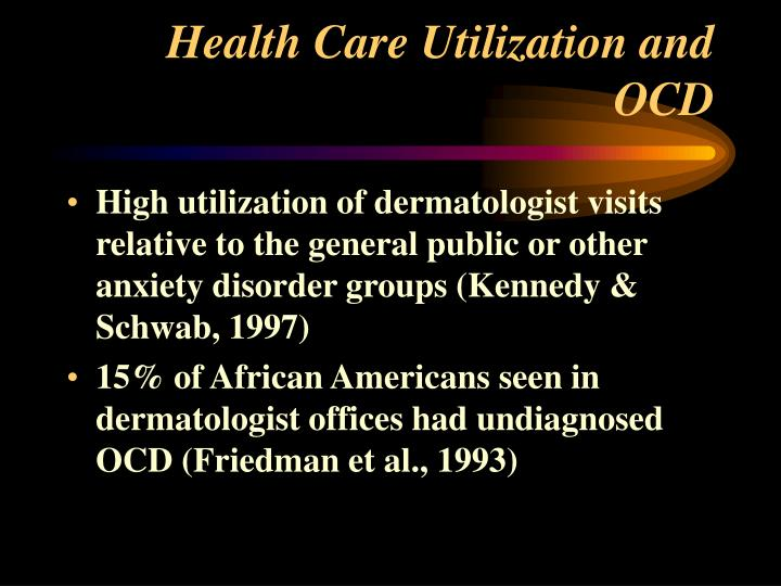 Health Care Utilization and OCD