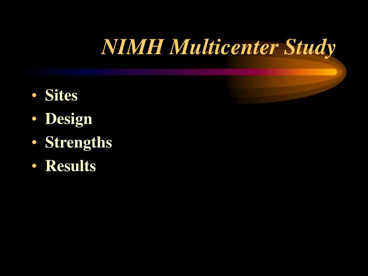 NIMH Multicenter Study