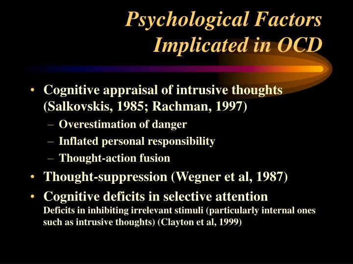 Psychological Factors Implicated in OCD