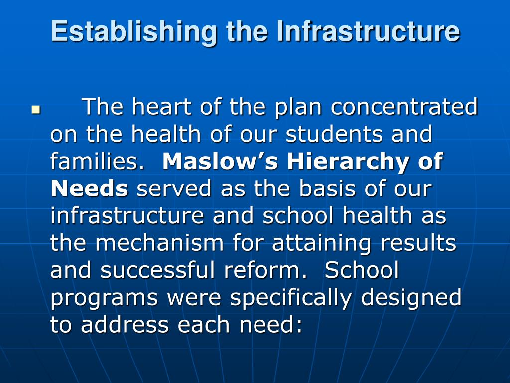 Establishing the Infrastructure