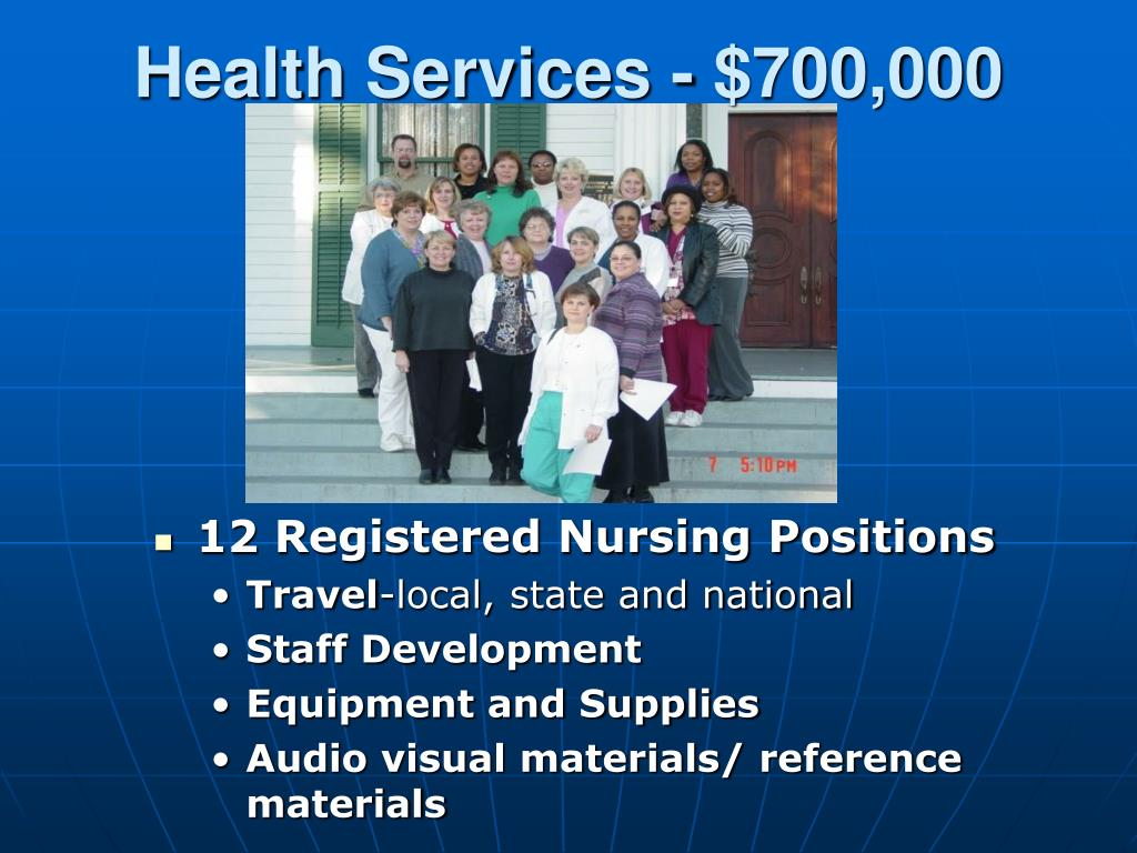 Health Services - $700,000