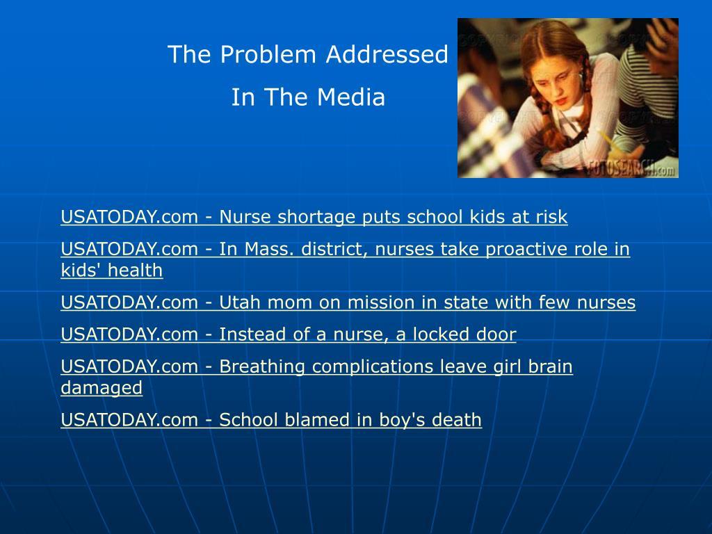 The Problem Addressed