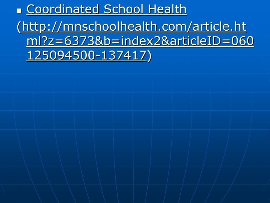 Coordinated School Health