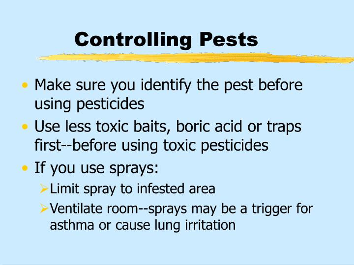 Controlling Pests