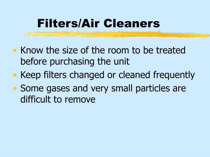 Filters/Air Cleaners