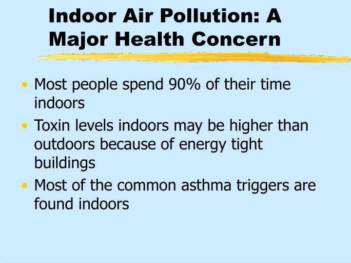 Indoor Air Pollution: A Major Health Concern