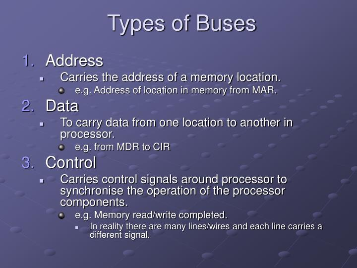 Types of Buses