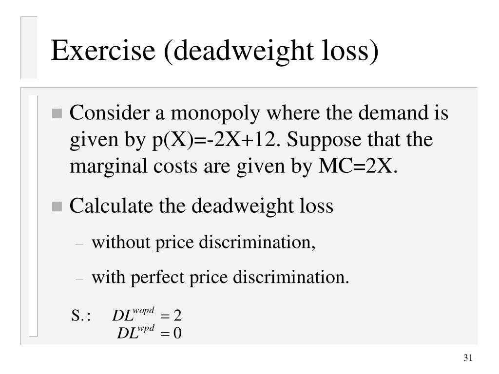 Exercise (deadweight loss)