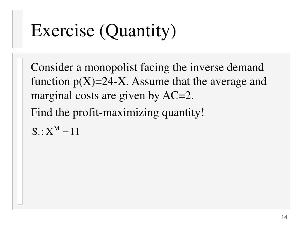 Exercise (Quantity)