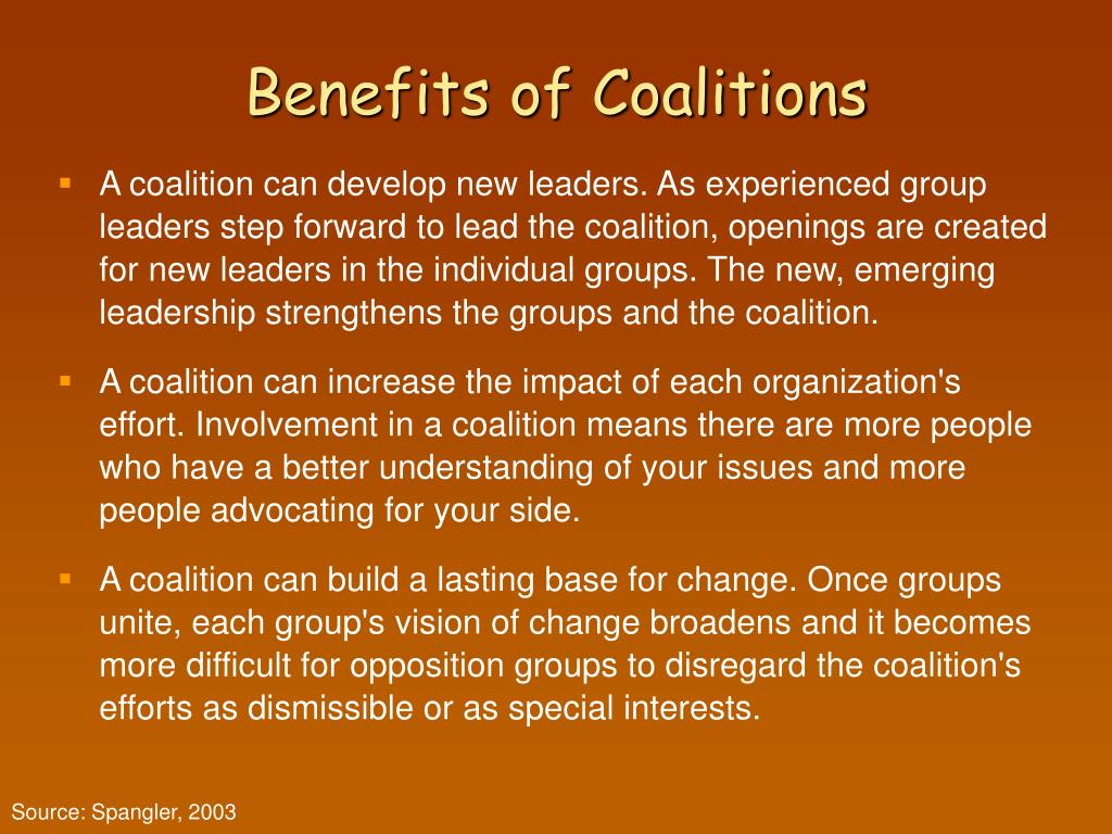 Benefits of Coalitions