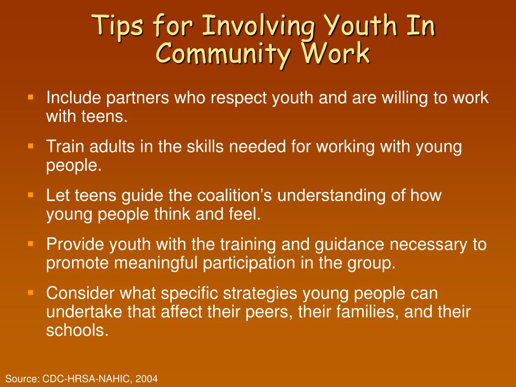 Tips for Involving Youth In Community Work