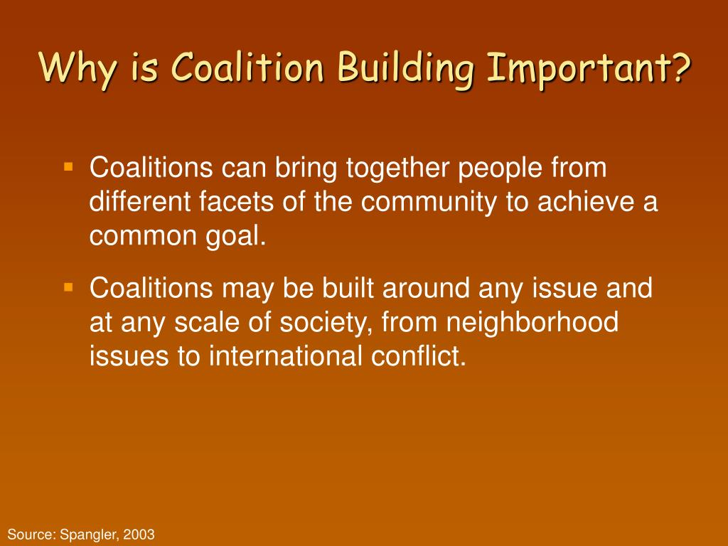 Why is Coalition Building Important?