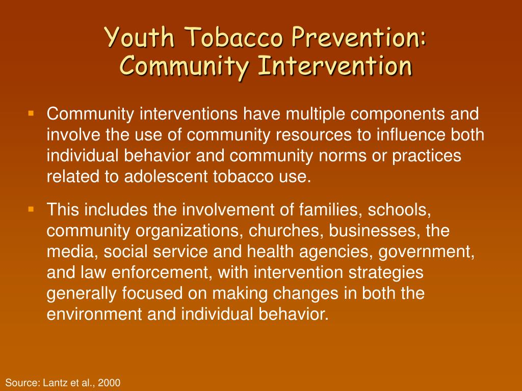 Youth Tobacco Prevention: