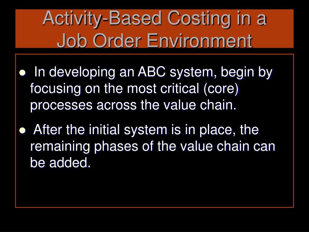 Activity-Based Costing in a