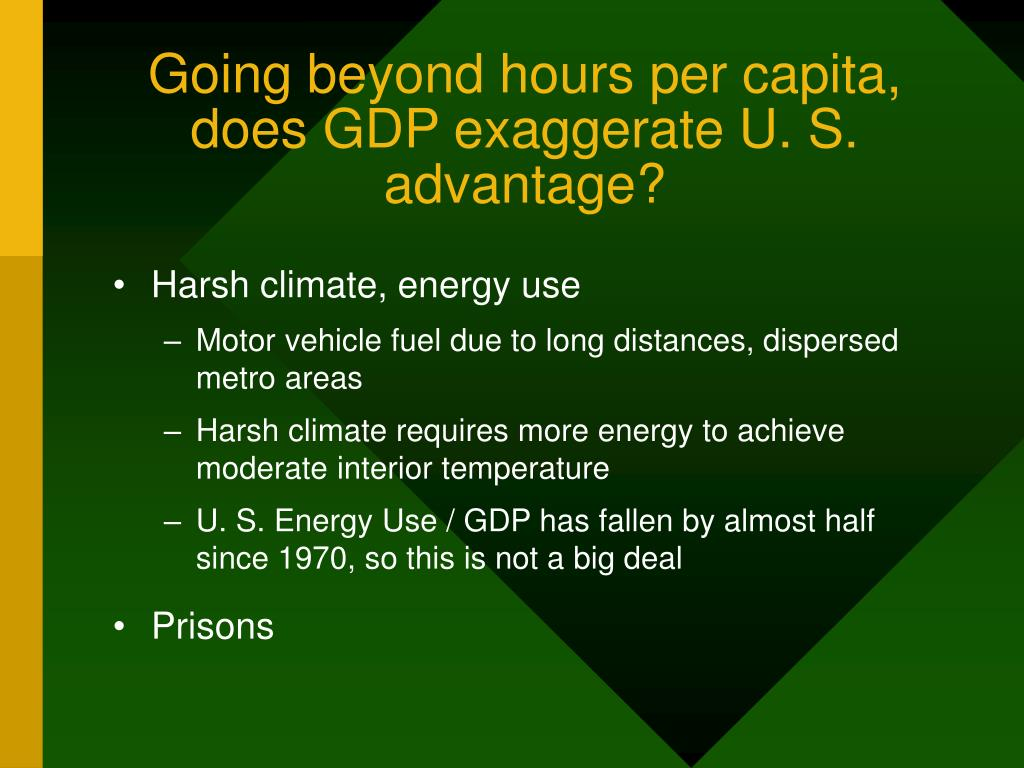 Going beyond hours per capita,