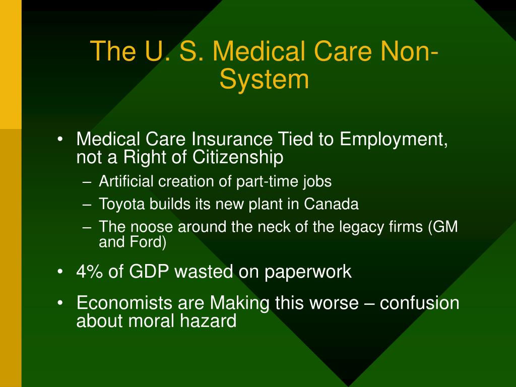 The U. S. Medical Care Non-System