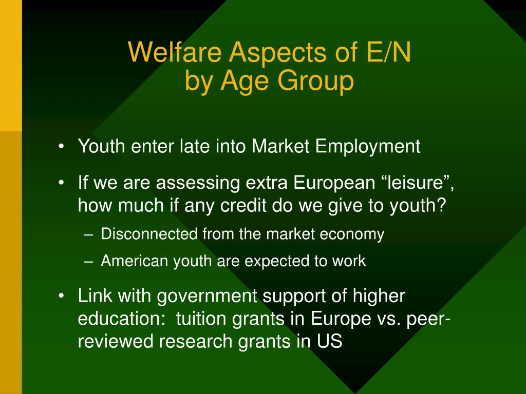 Welfare Aspects of E/N