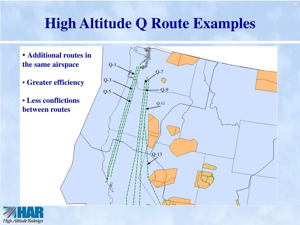 High Altitude Q Route Examples