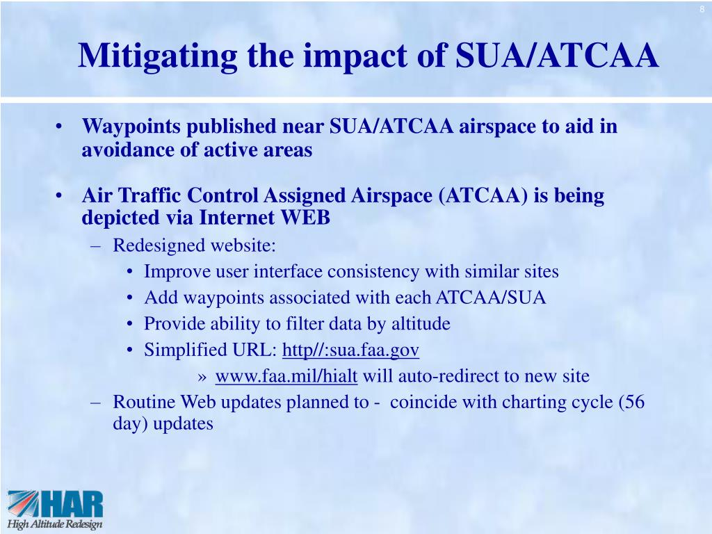 Mitigating the impact of SUA/ATCAA