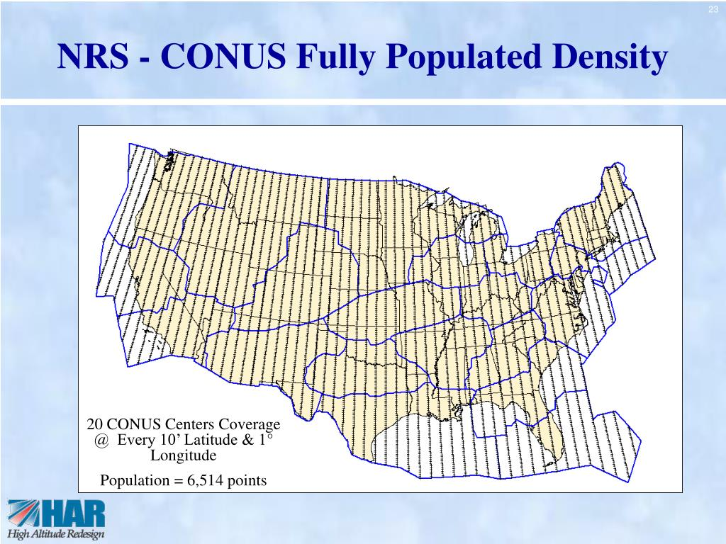 NRS - CONUS Fully Populated Density