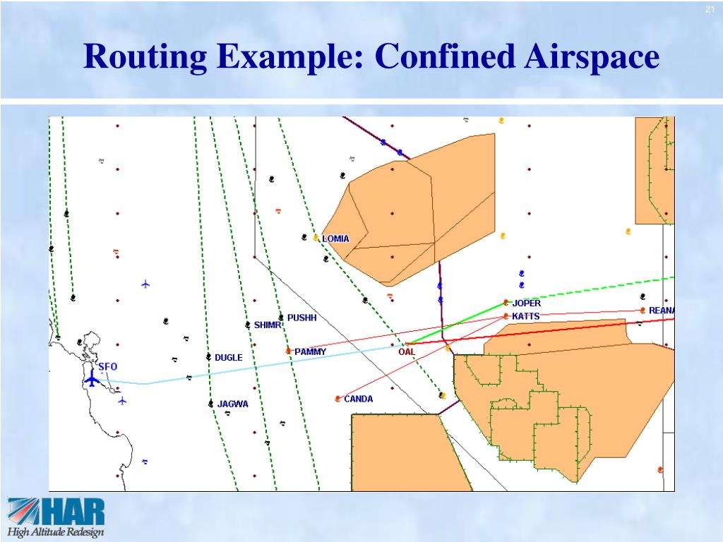 Routing Example: Confined Airspace