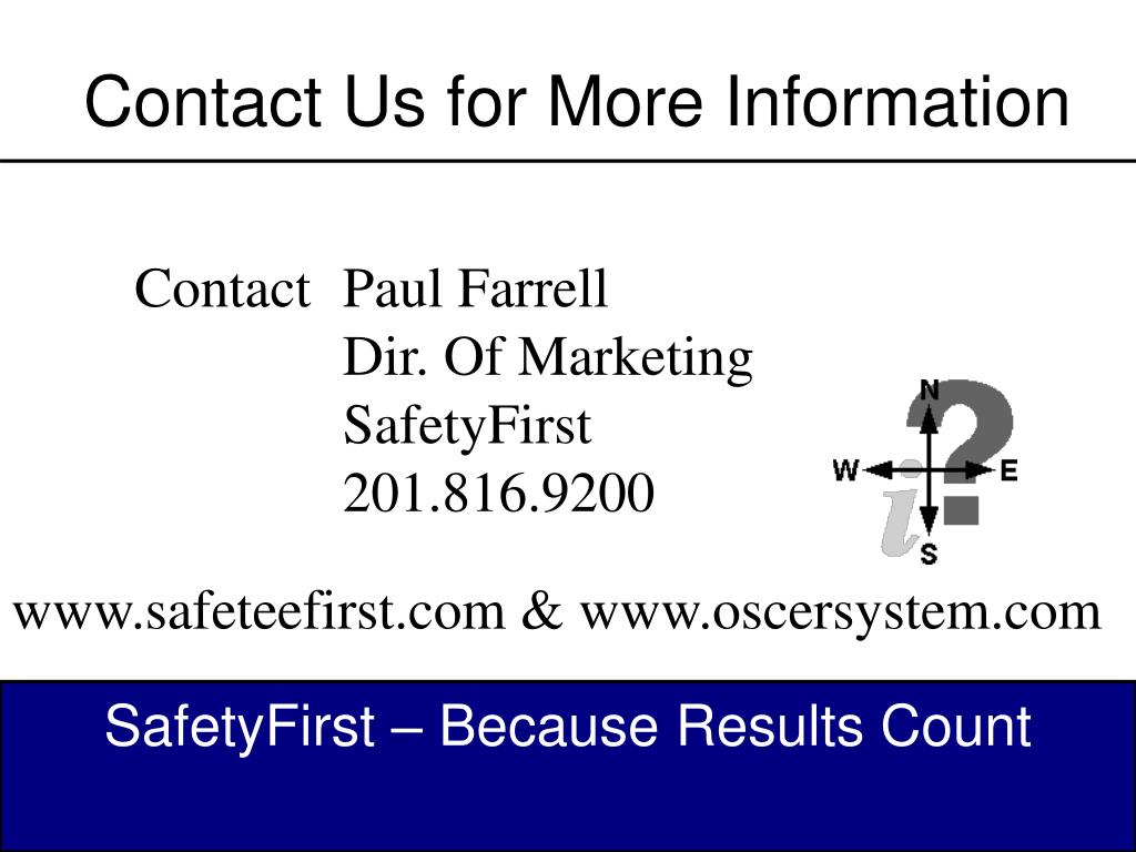 Contact Us for More Information