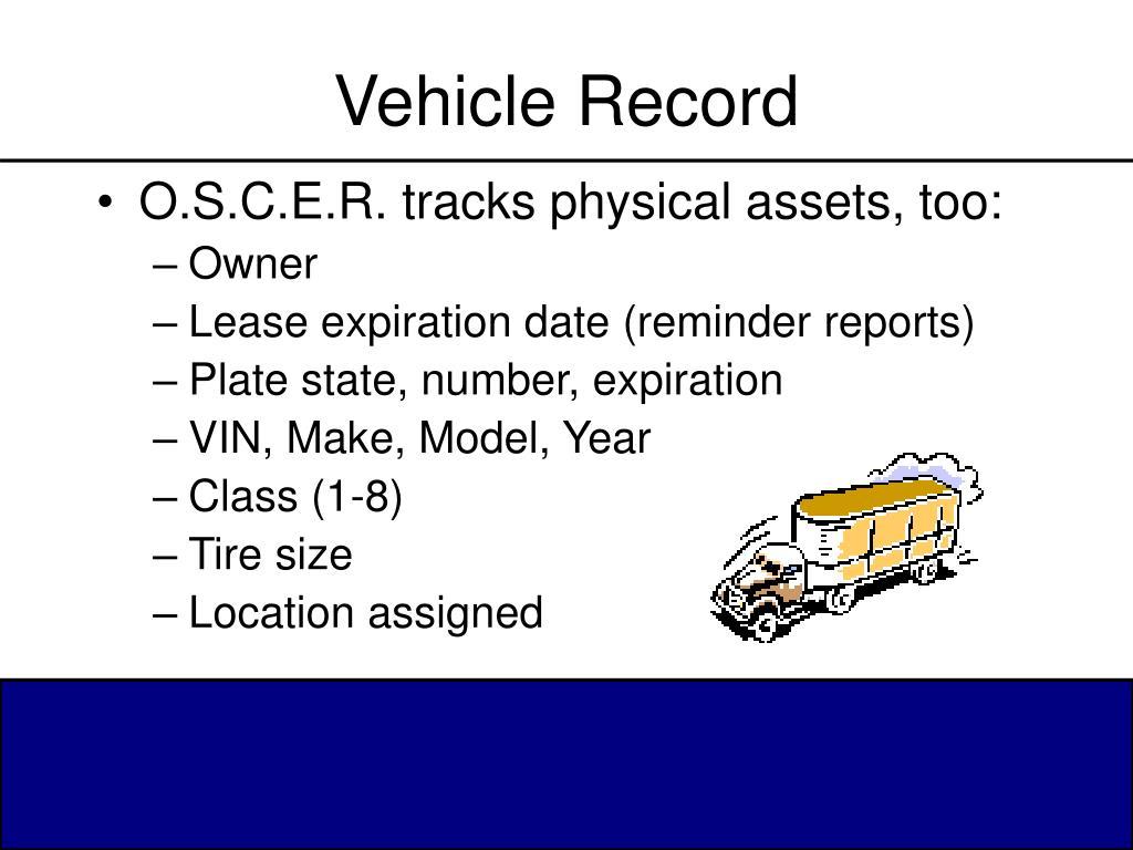 Vehicle Record