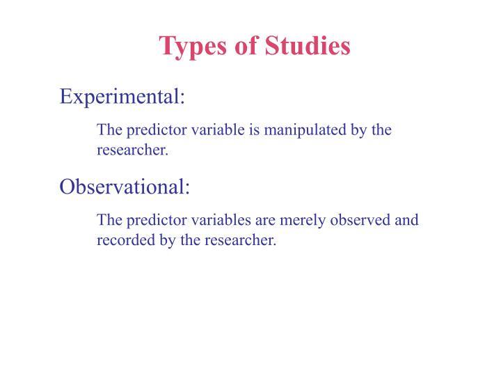 Types of Studies