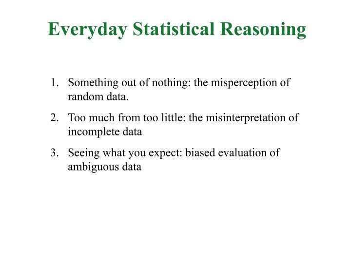 Everyday Statistical Reasoning