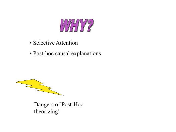 Dangers of Post-Hoc theorizing!