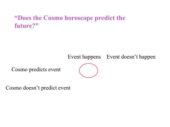 """Does the Cosmo horoscope predict the future?"""