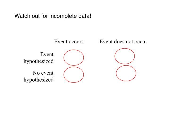 Watch out for incomplete data!