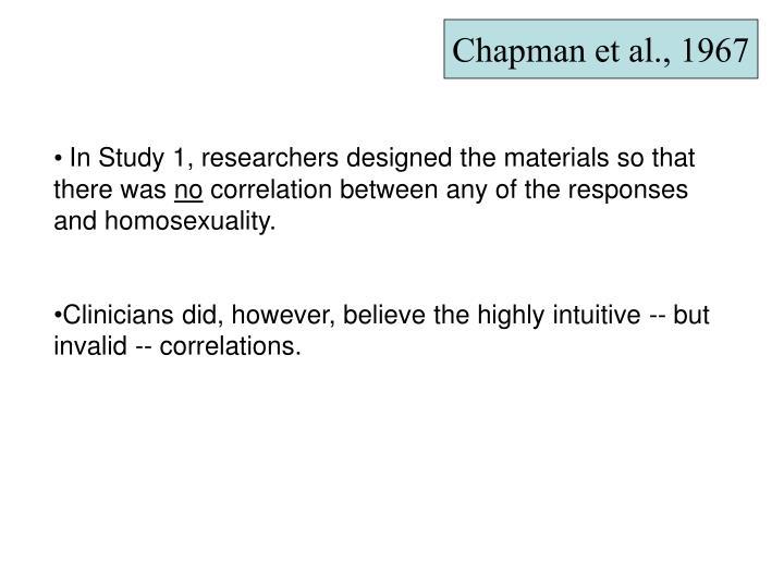 Chapman et al., 1967
