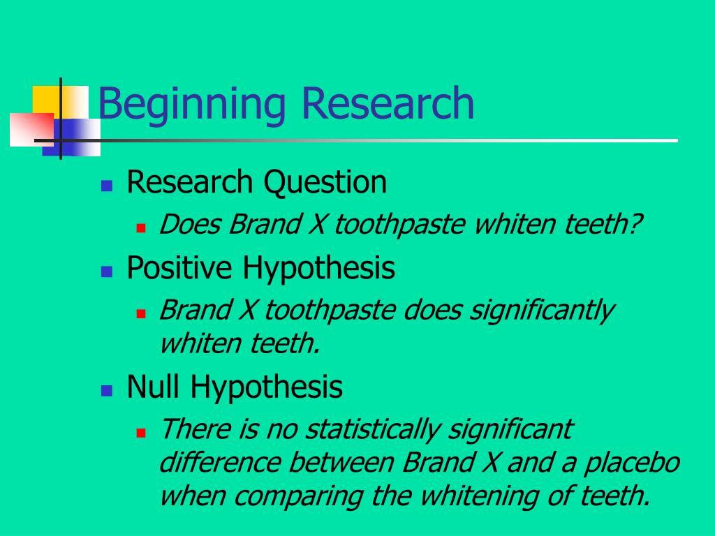 Beginning Research
