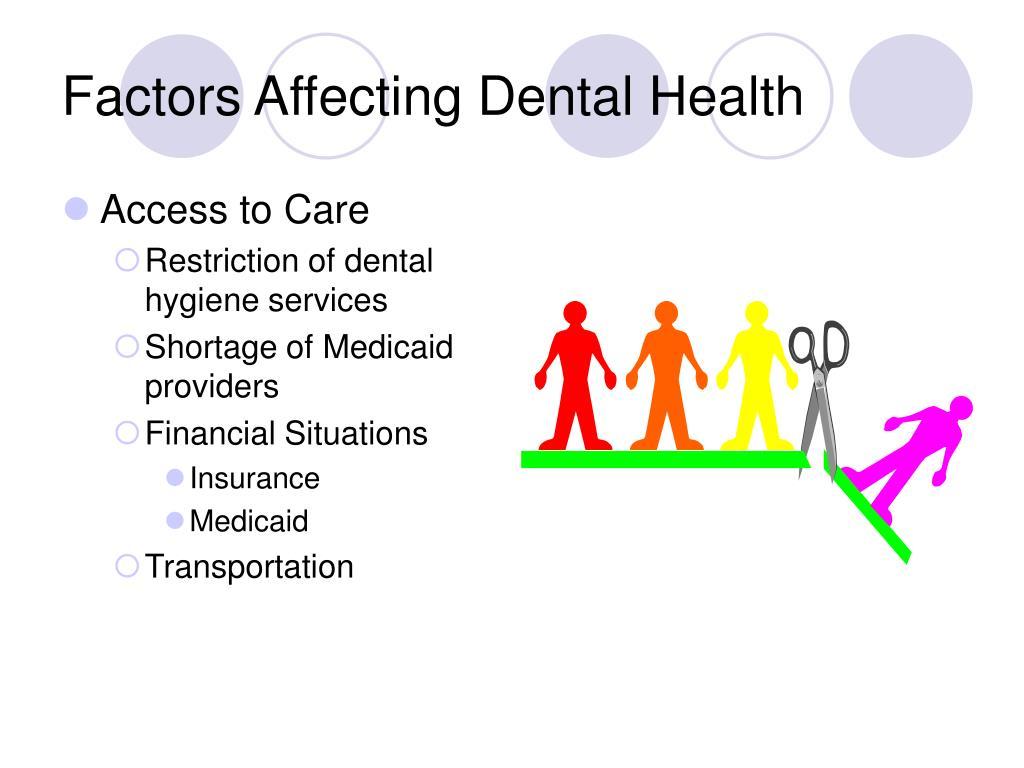 Factors Affecting Dental Health