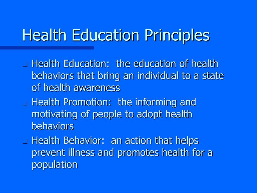 Health Education Principles