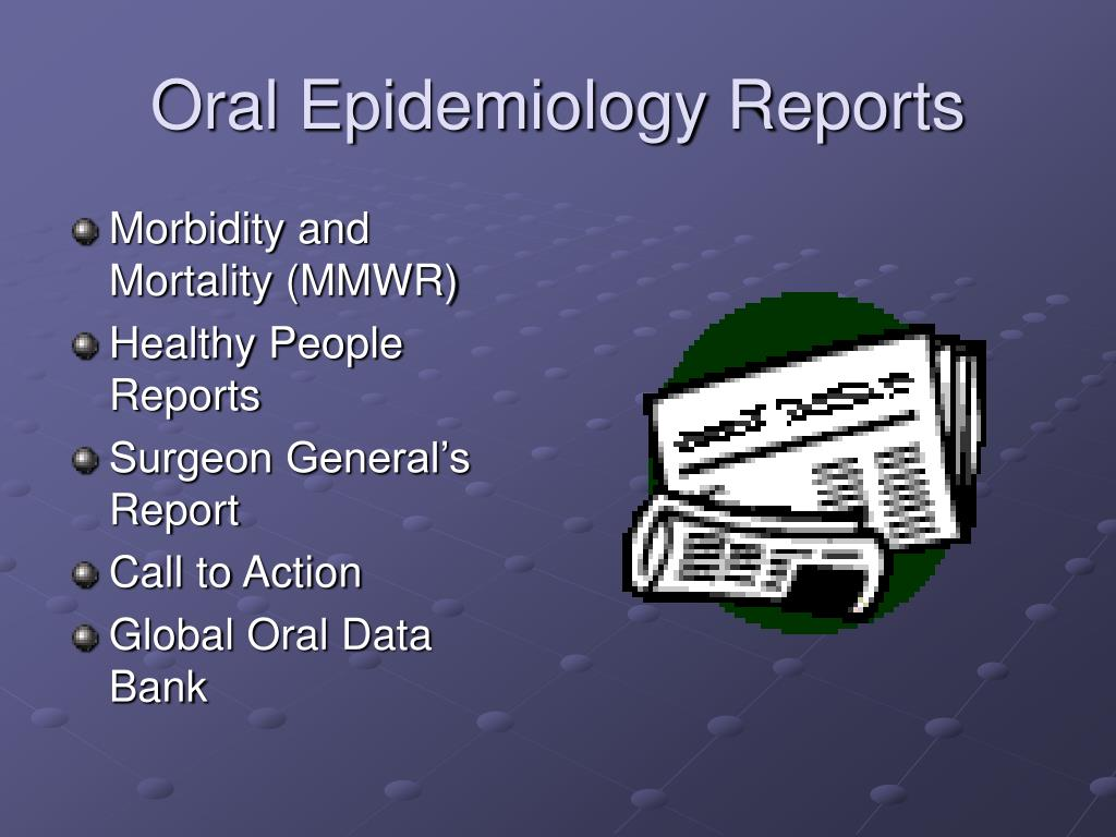 Oral Epidemiology Reports