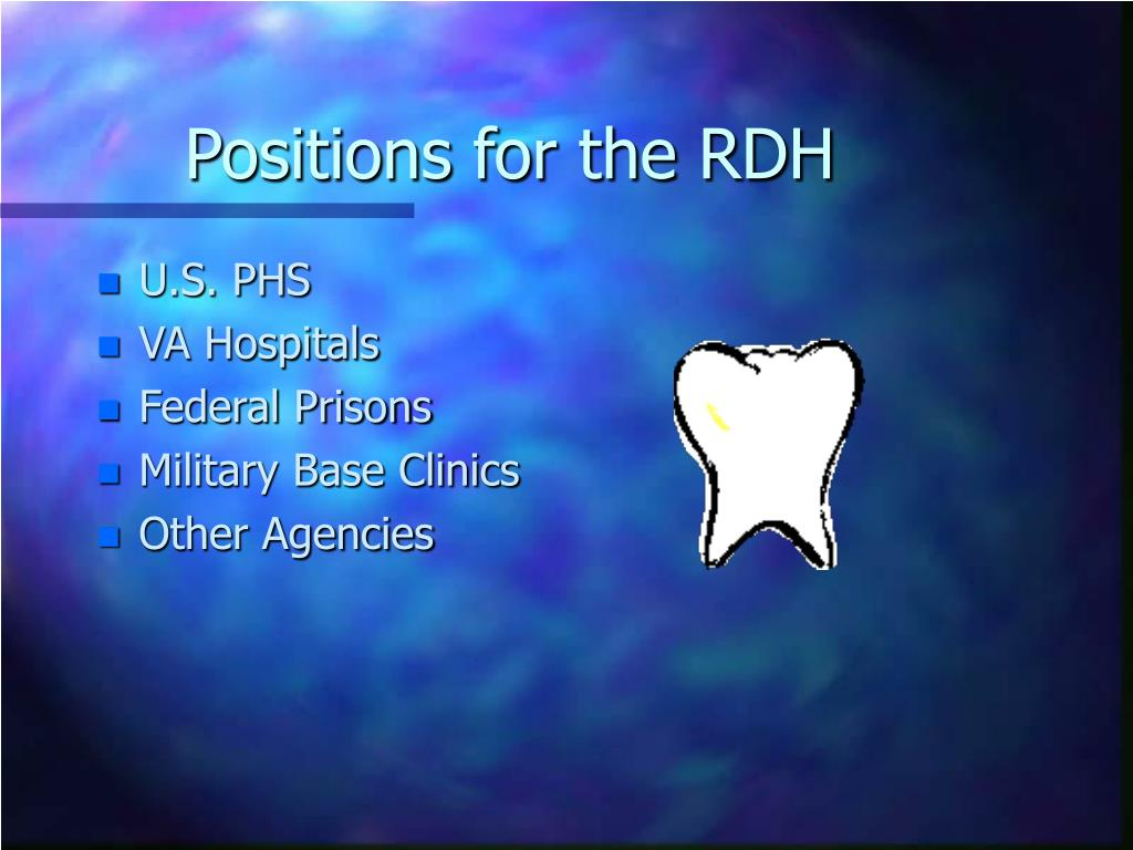Positions for the RDH