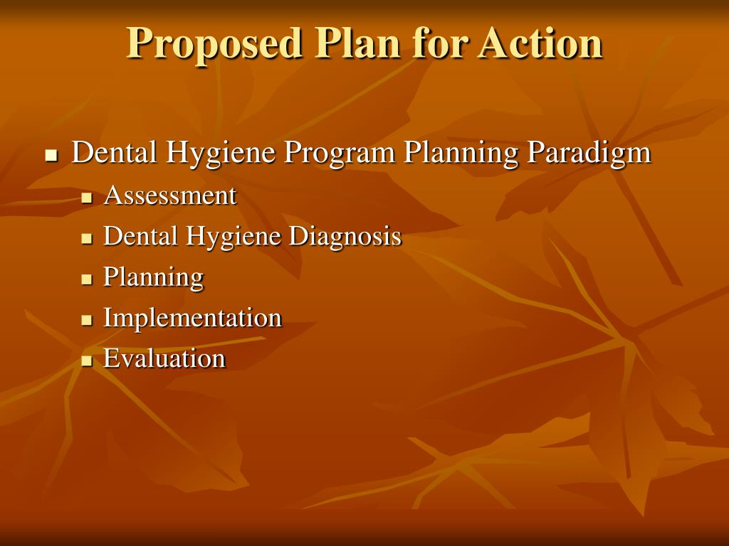 Proposed Plan for Action