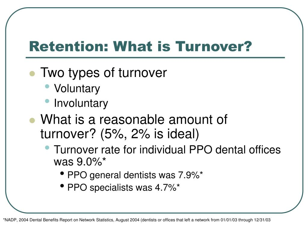 Retention: What is Turnover?