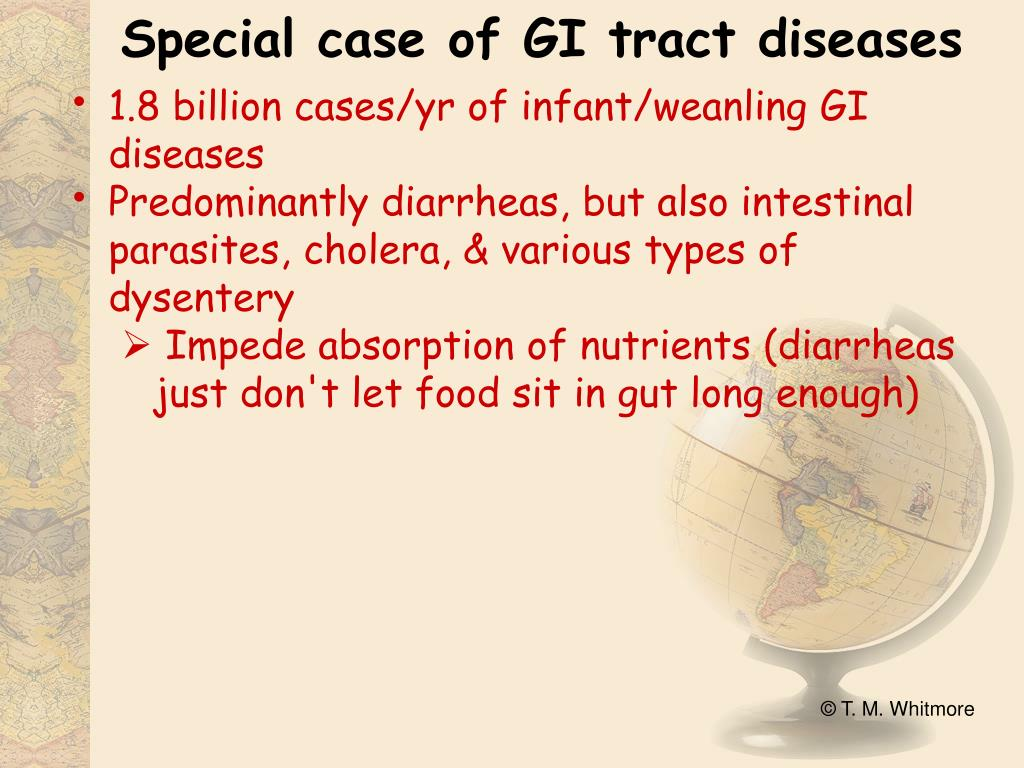 Special case of GI tract diseases