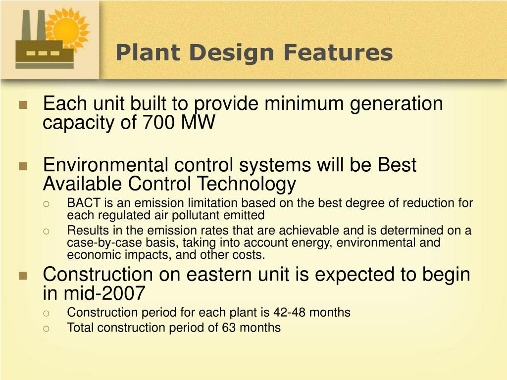 Plant Design Features