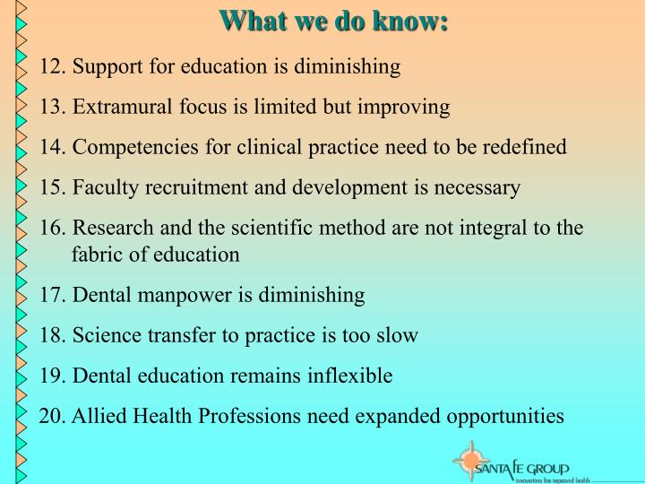 What we do know: