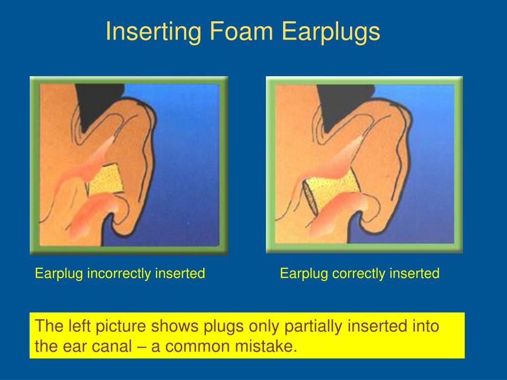 Inserting Foam Earplugs