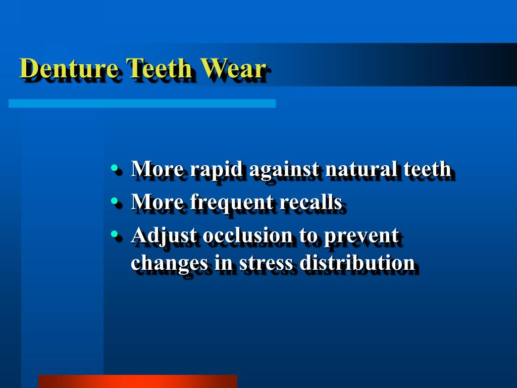 Denture Teeth Wear