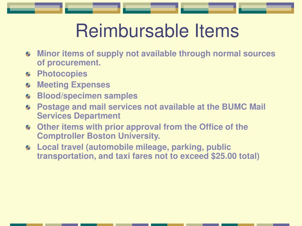 Reimbursable Items