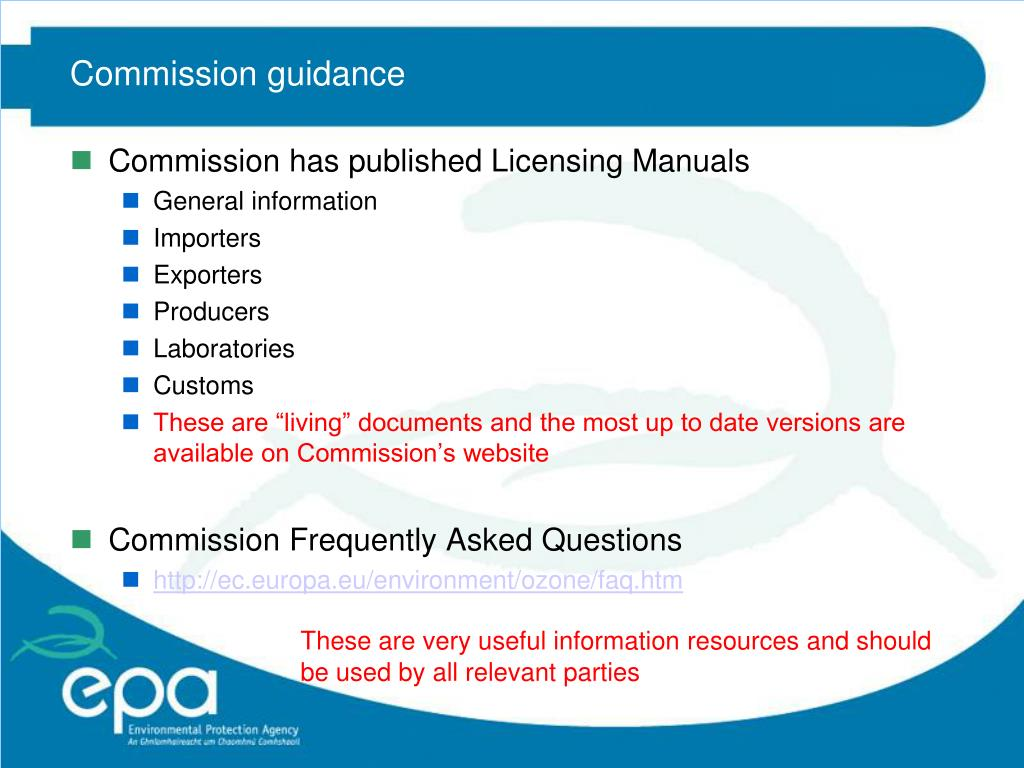Commission guidance