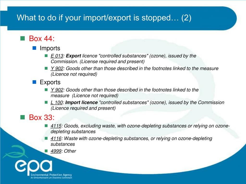 What to do if your import/export is stopped… (2)